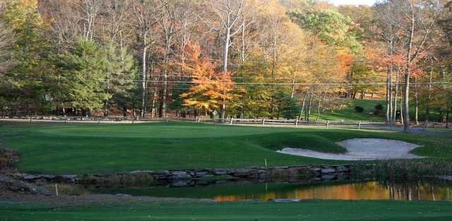 A view of hole #10 at Paupack Hills Golf & Country Club.