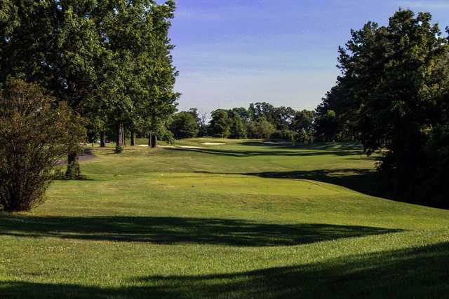 A view of a tee at Fort Belvoir Golf Club.