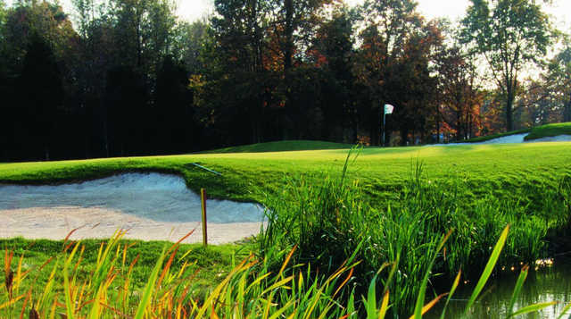 A view of the 17th hole at Pleasant Valley Golf Club.