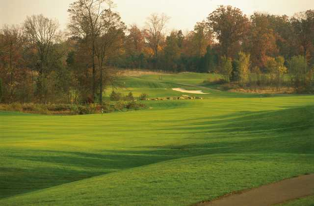 A view of a fairway at South Riding Golf Club.