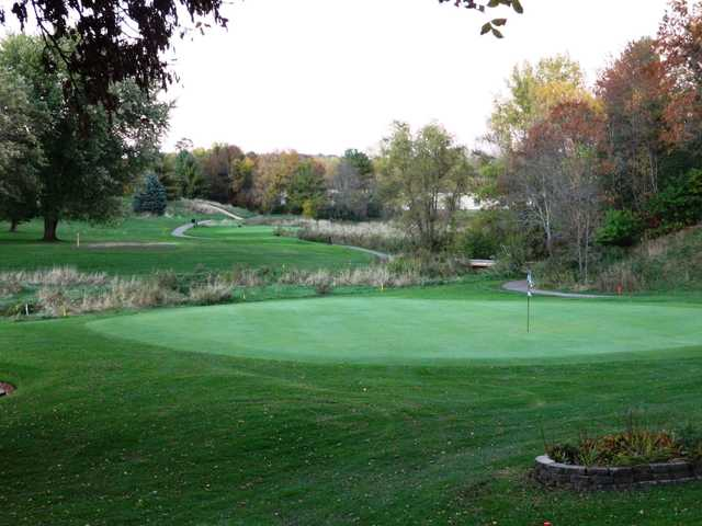 A view of a hole at Baraboo Country Club.
