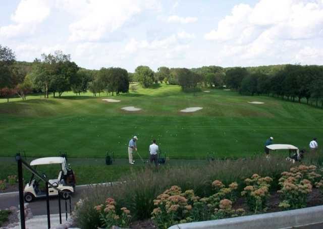 A view of the driving range at Chenequa Country Club.