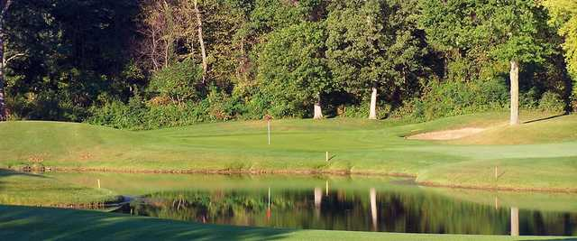 A view of the 17th green at University Ridge Golf Course.