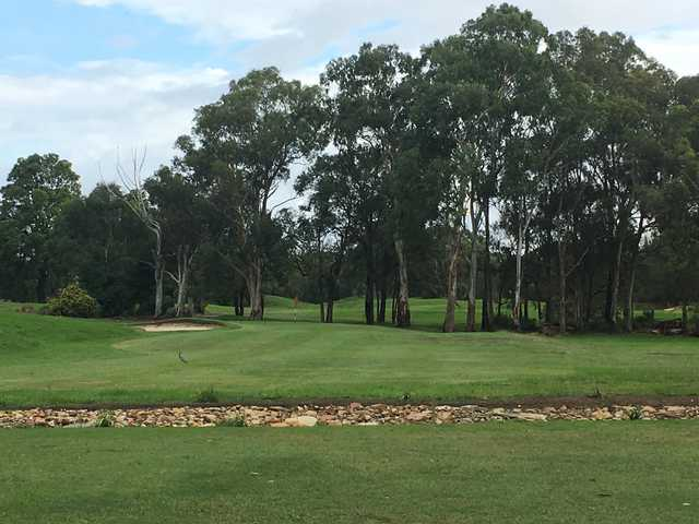 View of the 11th green from the Georges River Golf Course