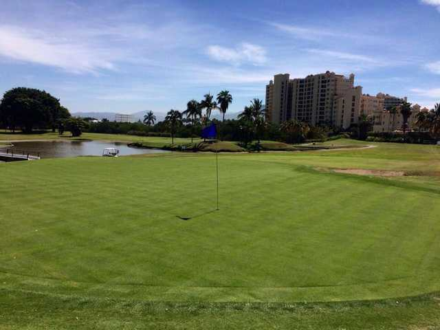 A view of a hole at Marina Vallarta Golf Club.