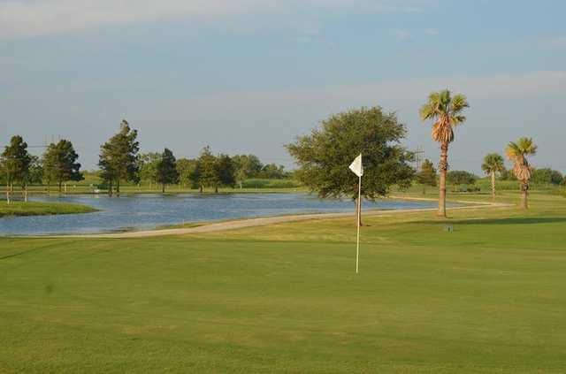 A view of a hole at Bayou Golf Course.
