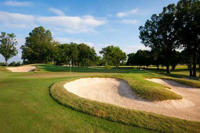 A view of a hole from South at Colonial Country Club.