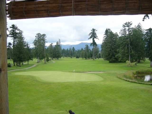 A view of green #18 at Arrowsmith Golf & Country Club