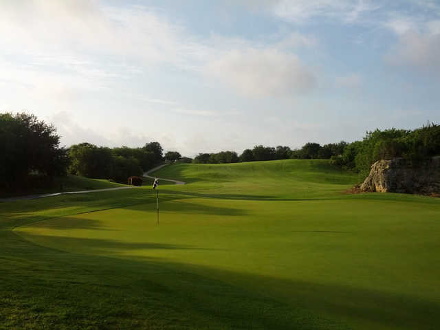 A view of the 10th green at Olympia Hills Golf Course.