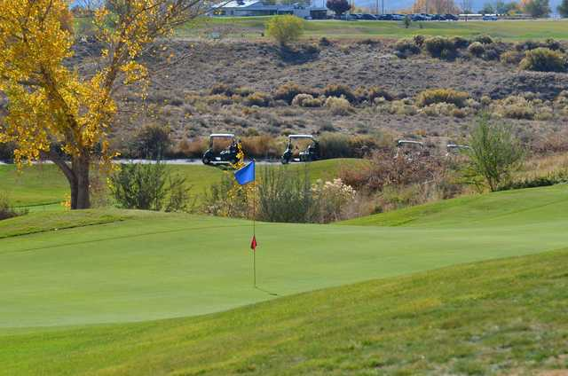 A view of a green at Riverview Golf Course.