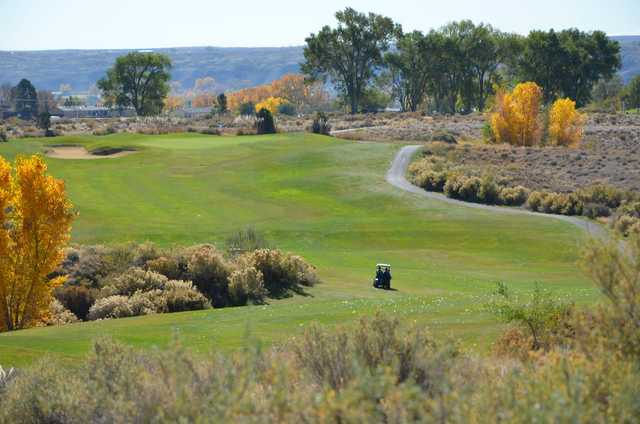 A view of a fairway at Riverview Golf Course.