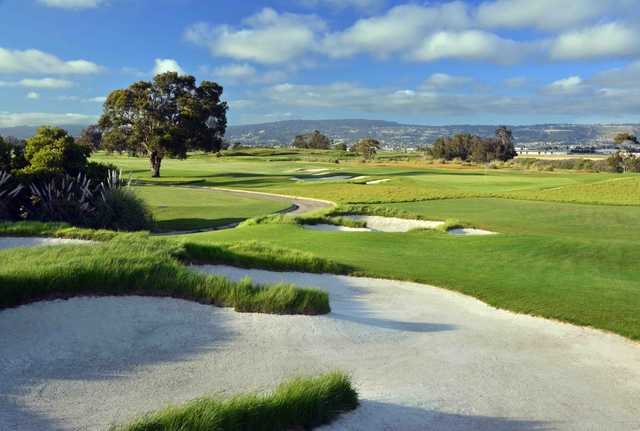 View of the 5th and 6th greens from the South Course at Corica Park