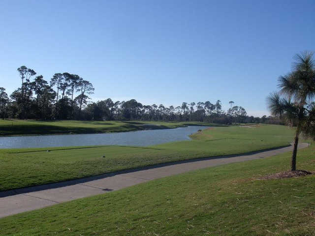 A view of a tee at Pensacola Country Club.