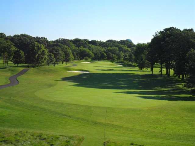 A view of a fairway at Arrowhead Golf Club.