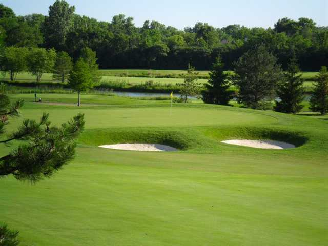 A view of a hole at Arrowhead Golf Club.