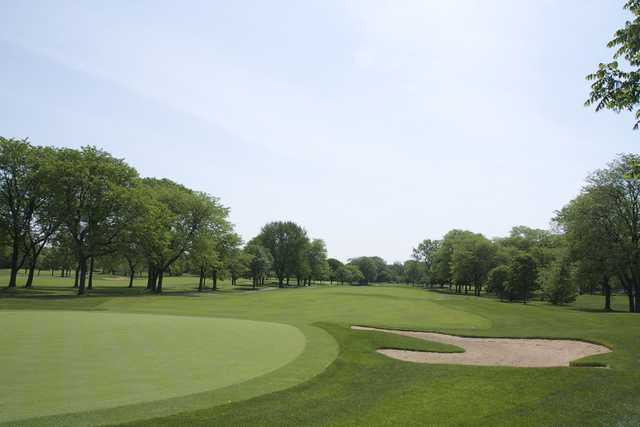 A view of a fairway at Glenview Park Golf Club.