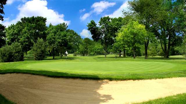 A view of hole #13 at Mt Prospect Golf Club.
