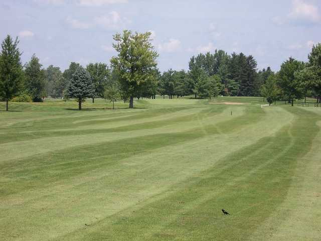 A view from a fairway at University of Illinois Golf Course.