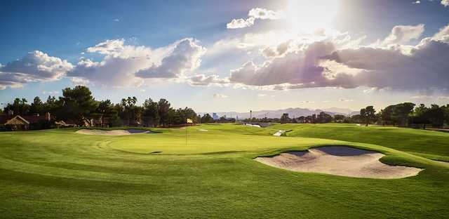 A view of a well protected hole from The Club at Sunrise.
