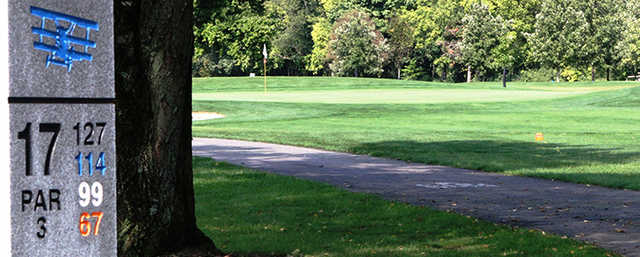 A view of hole #17 at Airport Golf Course.