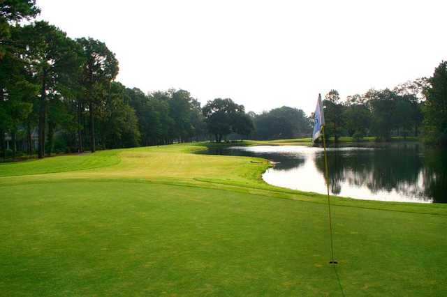 A view of a green at Moss Creek Golf Club.