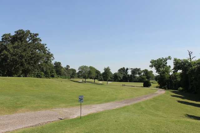 A sunny day view from  Gus Wortham Park Golf Course .