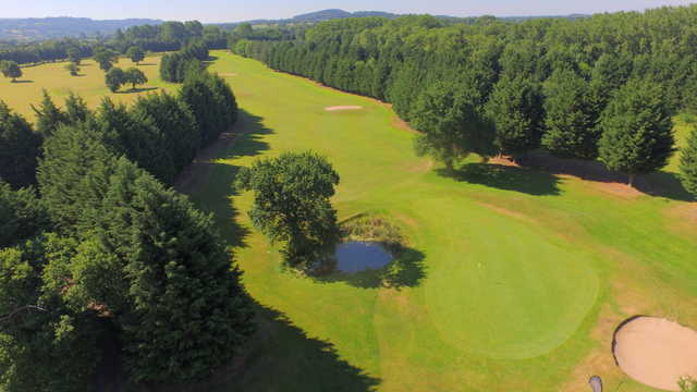 View of the 9th green at Aldersey Green Golf Club
