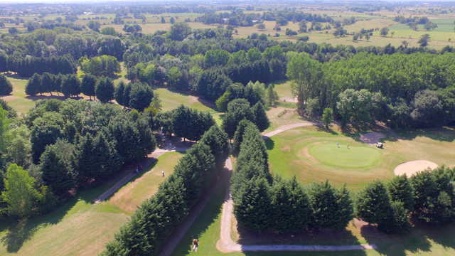 View of 12th and 15th green at Aldersey Green Golf Club