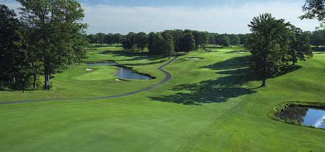 A view of fairway #14 at Montammy Golf Club.