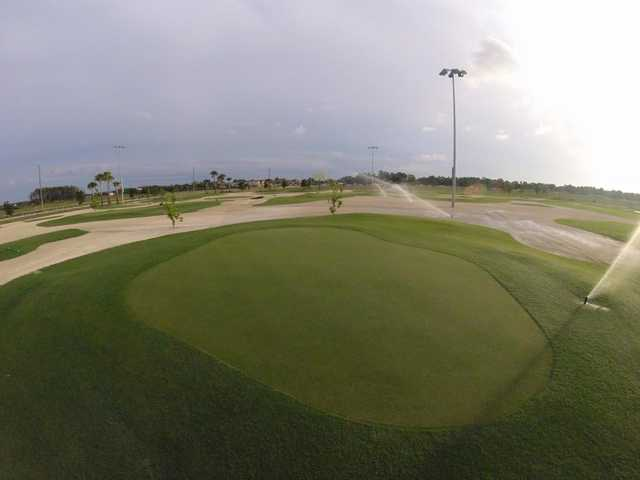 A view of a green at Short Course from Alico Family Golf.