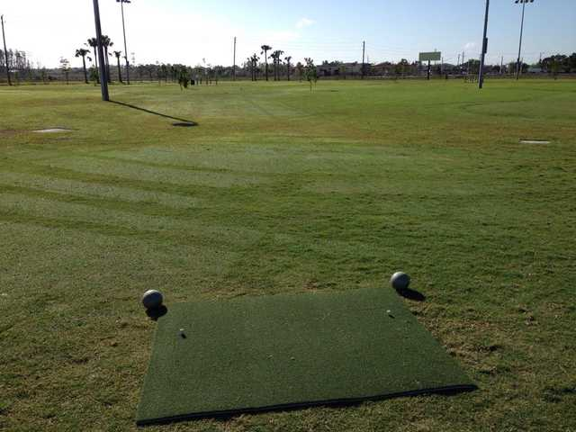 A view of a tee at Short Course from Alico Family Golf.