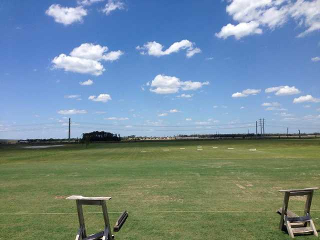 A view of the driving range at Alico Family Golf.