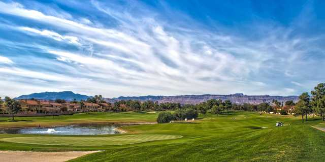 A view of a green at Spanish Trail Country Club.