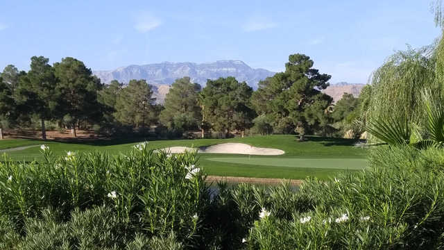 A view of a well protected green at Spanish Trail Country Club.