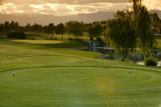 A view of a tee at Spanish Trail Country Club.