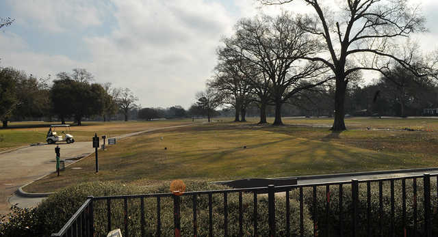 A view of a tee at Webb Park Golf Course.