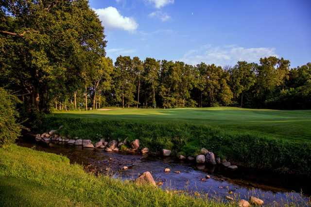 A view of the 5th fairway at Coyote Crossing Golf Course.