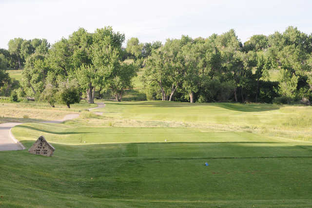 A view from tee #5 at University of Denver Golf Club at Highlands Ranch