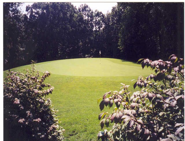 A view of green #2 at Tanglewood Golf Course