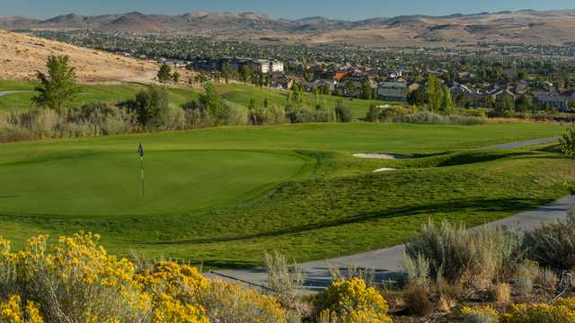 A view of a hole from Hills Course at Red Hawk.