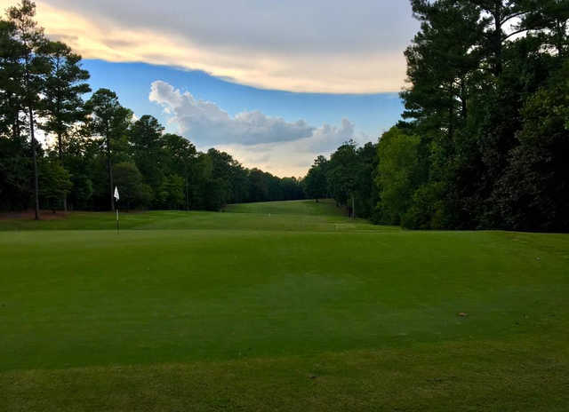 An evening view of a hole at Waterford Golf Club.