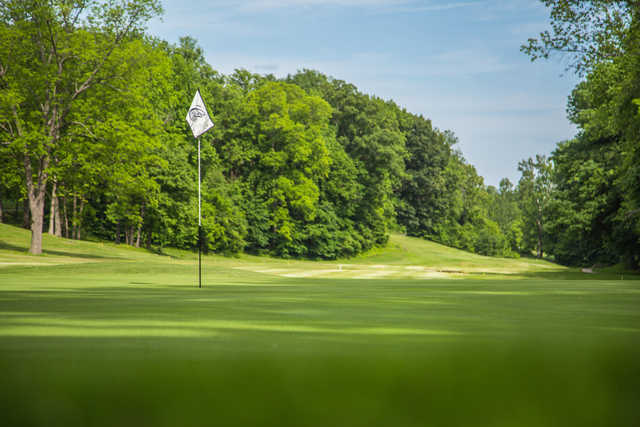 A view of a green at Cape Girardeau Country Club.