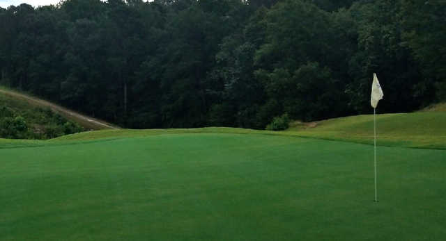 A view of a hole at Heatherwood Hills Country Club.