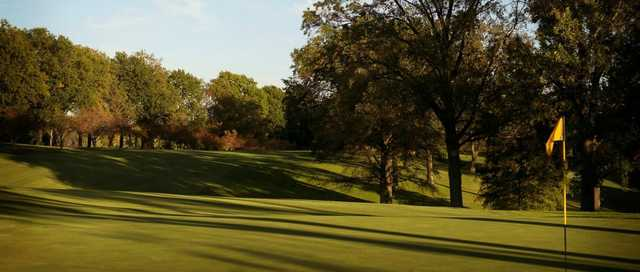A view from a green at Norwood Hills Country Club.