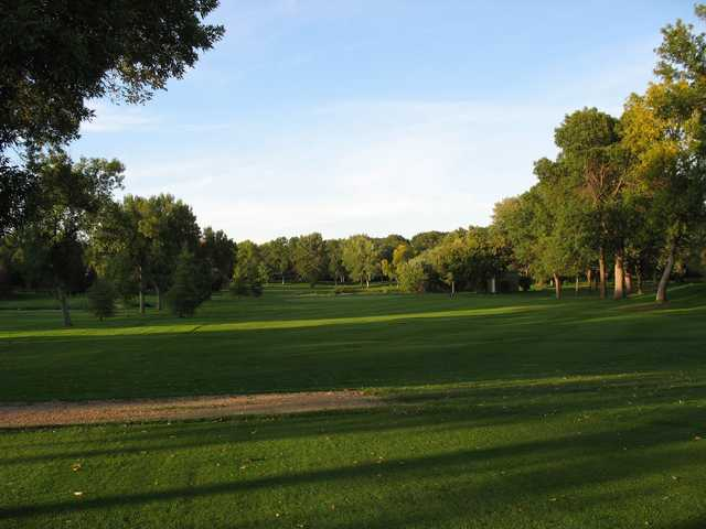 A view from a fairway at New Hope Village Golf Course.
