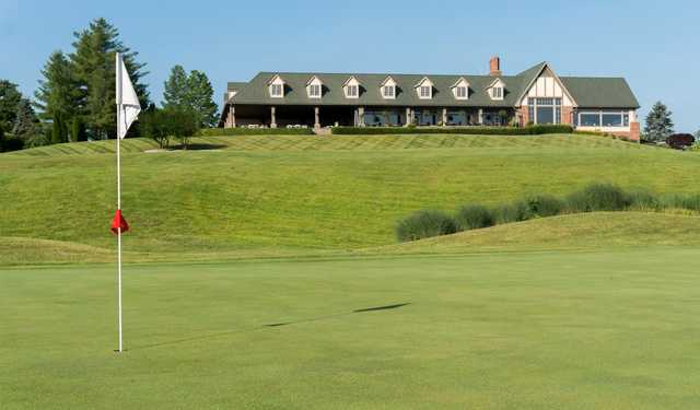 A view of a hole at Covered Bridge Golf Club.