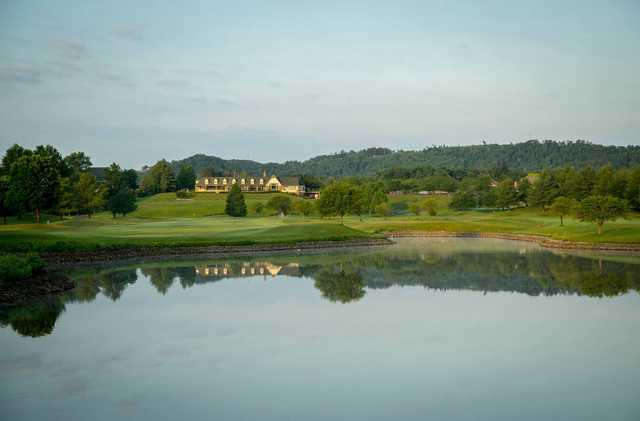 A view over the water from Covered Bridge Golf Club.