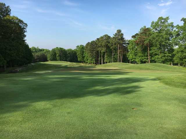 A sunny day view from Forest Greens Golf Club.