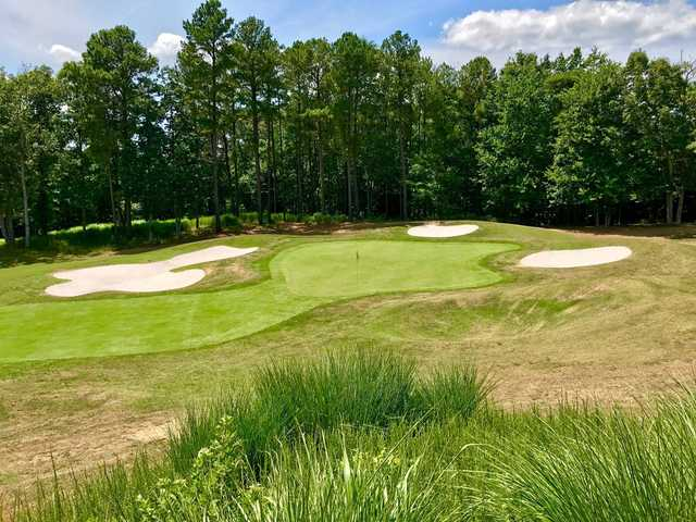 A view of the 8th green at Forest Greens Golf Club.