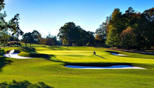 A view of hole #2 at Forest Oaks Country Club.